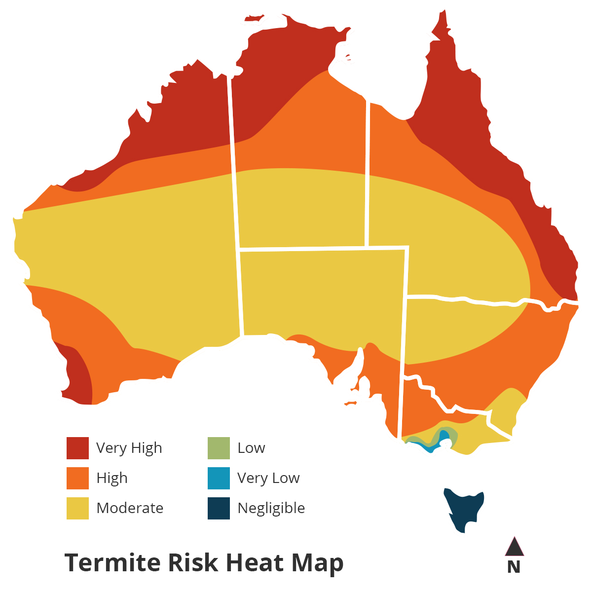 Termites In Australia Sunshine Coast Wildman Building Pest - Us termite map
